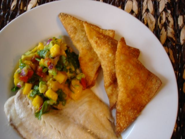 Baked Tilapia with Mango Salsa | A Vegetarian's Thanksgiving | Pinter ...
