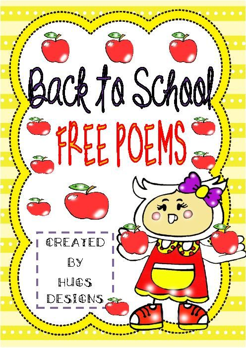 School poem 1 first day of school poem 2 welcome back acrostic poem