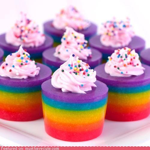 Rainbow jelloshots