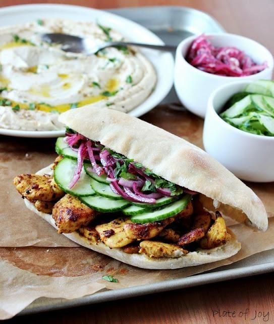 Chicken Recipe : Pita stuffed with delicious - marinated chicken ...