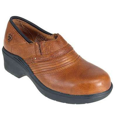 Ariat shoes 10002367 golden brown safety steel toe clogs in Women