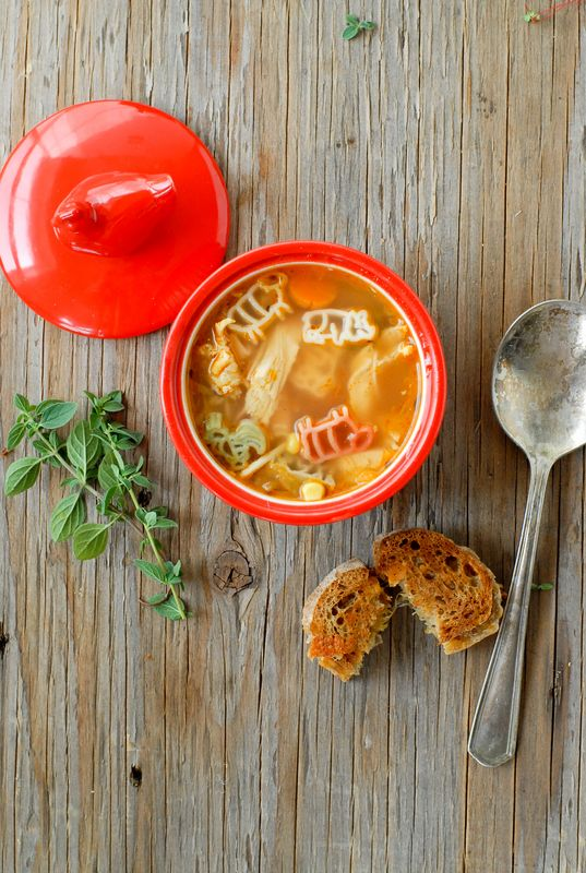 ... Chicken and Pasta Soup with Mini Grilled Cheese Sandwiches | Recipe