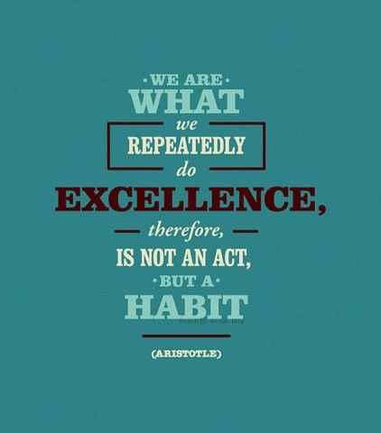 The pearl of excellence rests on the effort