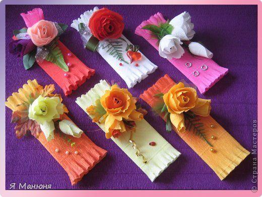 Красиво оформить подарок из конфет 89