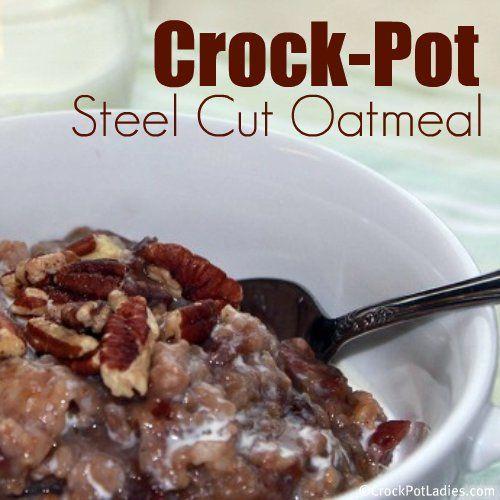 Crock-Pot Steel Cut Oatmeal Recipe - Crockpotladies.com