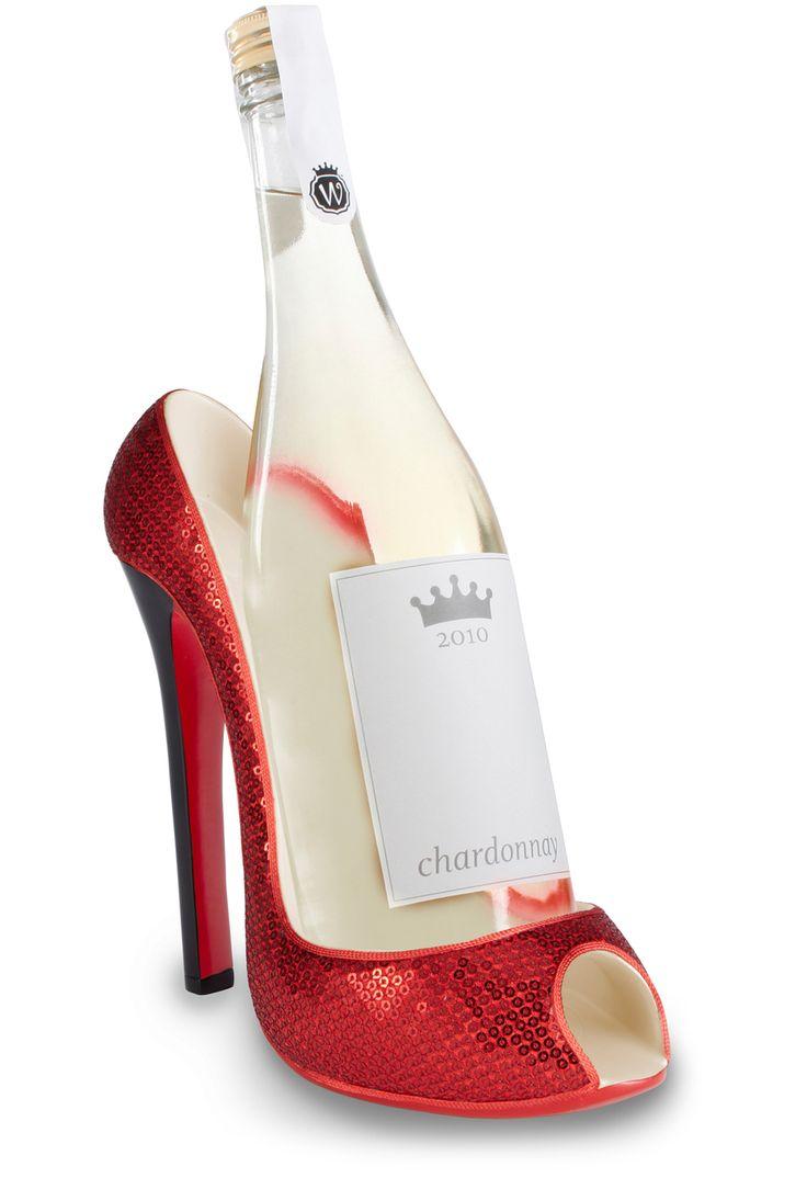 shoe wine bottle holder wine o oh wine