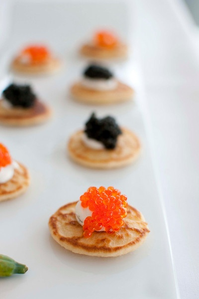 caviar and blinis | that looks delicious | Pinterest