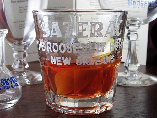 Sazerac Cocktail for Fat Tuesday celebration