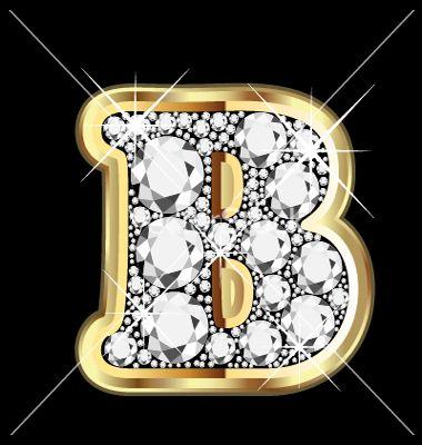 B Letter In Diamond - B - is for BLING! ;)...