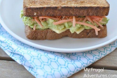 Cheddar and Avocado Sandwich recipe