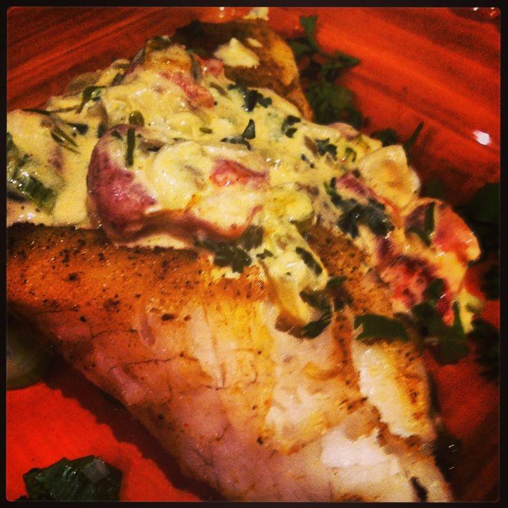 Blackened grouper with Cajun cream sauce   Seafood delights   Pintere ...