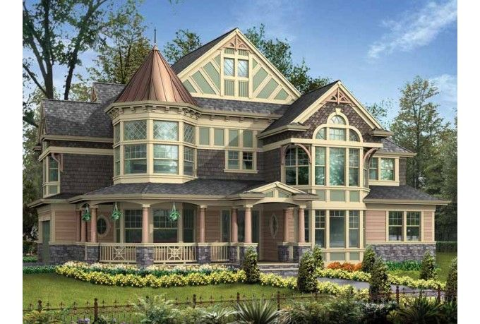 Victorian queen anne house victorian splendor pinterest for Victorian home designs