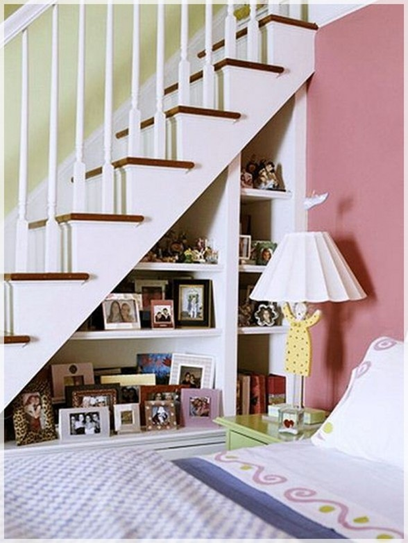 Under Stairs Shelves For the home Pinterest