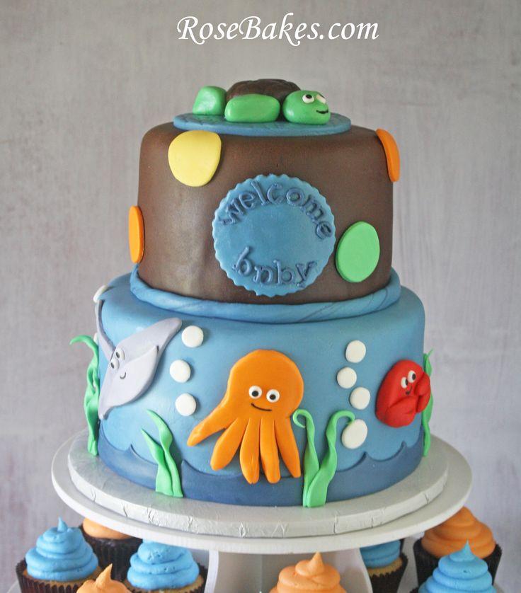 the little mermaid baby shower cake gallery