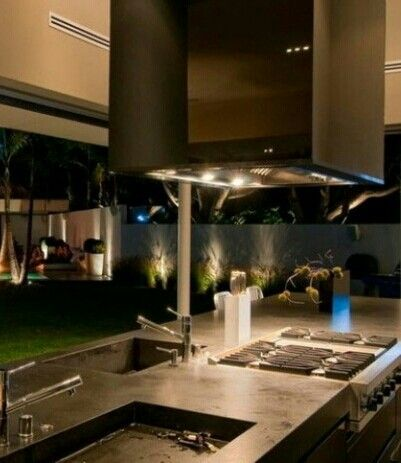 Outdoor Kitchen Grill Vent Hood Outdoor Kitchens