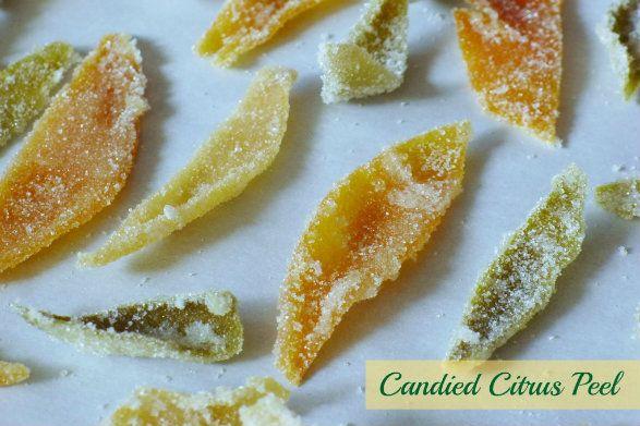Candied Citrus Peel | Unique Recipes | Pinterest