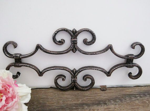 Black Gate Wall Decor : Black iron gate piece architectural salvage metal ornate