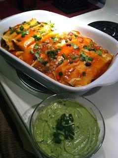 On A Vegan Day: Vegan Enchiladas w/ Cilantro Lime Cream Sauce