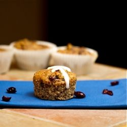 ... and fluffy orange cranberry almond meal muffins {vegan + gluten-free