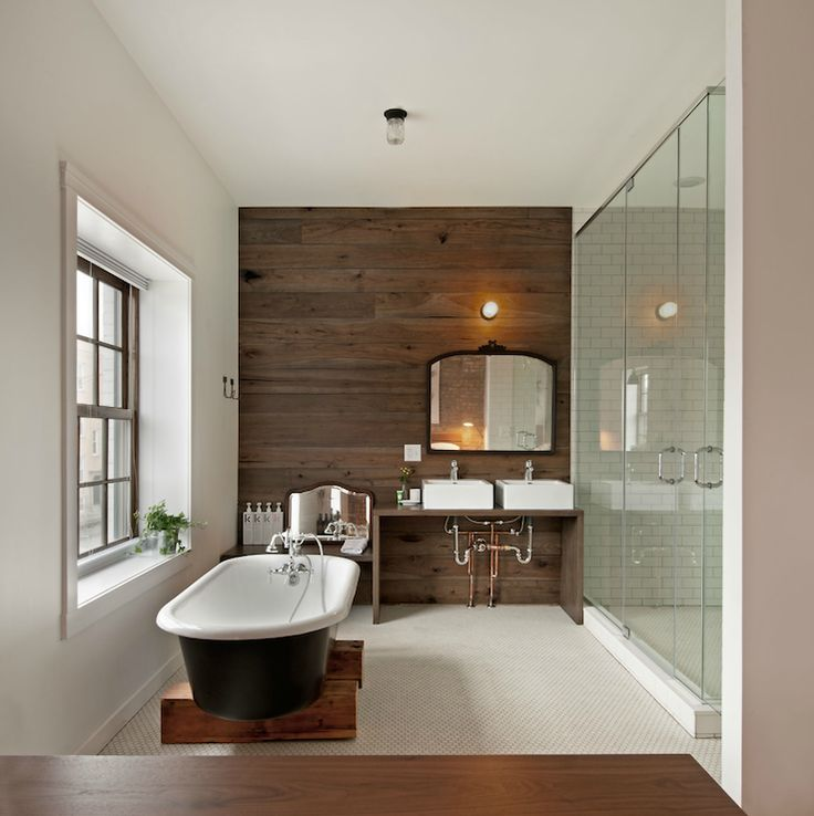 Wood Accent Wall Bathroom Reno Pinterest