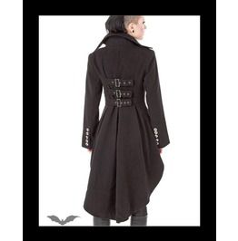 Gothic Victorian Steampunk Dip Back Coat Buckles - Jackets