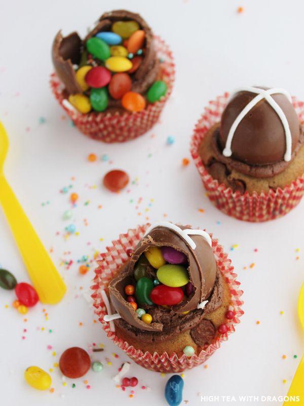 Hot cross surprise cupcakes   HTWD Cupcakes & Cakes   Pinterest