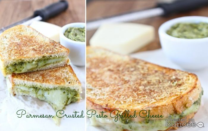 Parmesan Crusted Pesto Grilled Cheese Sandwich Recipe — Dishmaps