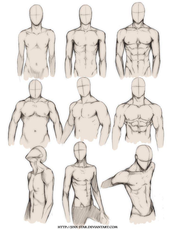 Рисованный торс мужчины