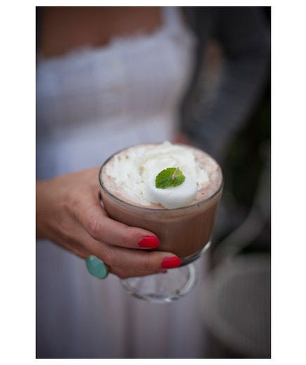 Offer guests an Irish coffee in the cooler winter months.
