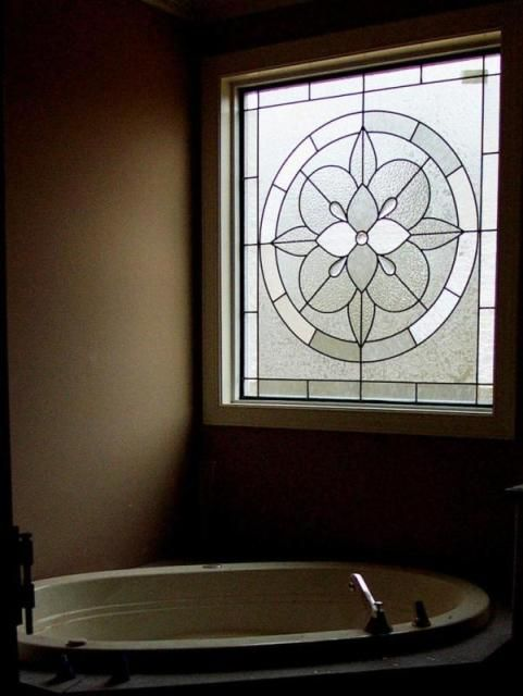 stained glass bathroom window dream home pinterest