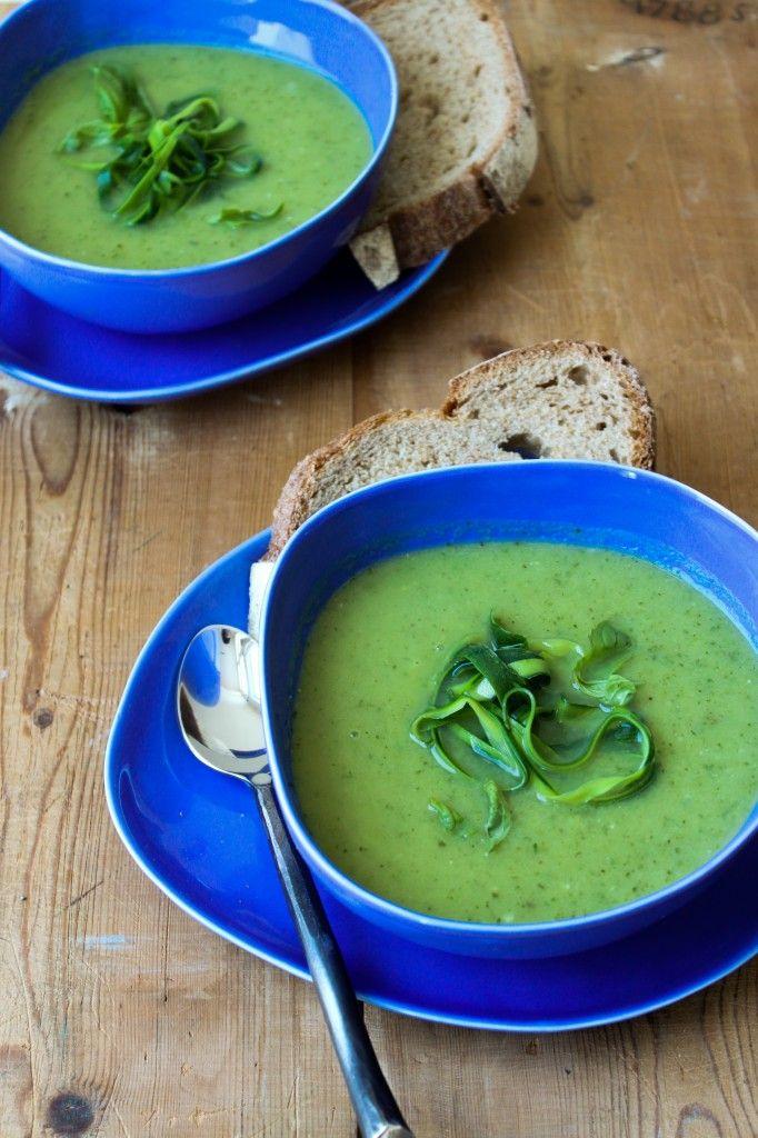 Zucchini Basil Soup from the little epicurean blog. #zucchini #soup