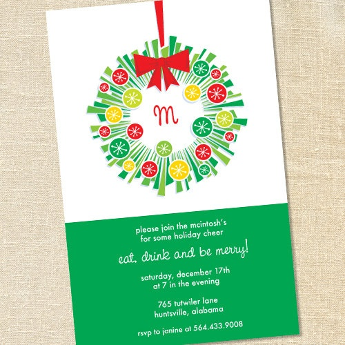 Holiday Invite with best invitation sample
