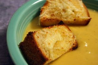 Vanilla Bean: Winter Squash Soup with Gruyere Croutons