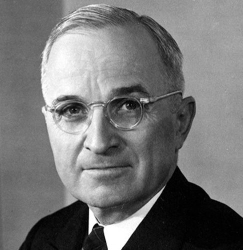 """Harry S. Truman: """"America was not built on fear.  America was built on courage, on imagination and an unbeatable determination to do the job at hand."""" ... """"My choice early in life was either to be a piano-player in a whorehouse or a politician.  And to tell the truth, there's hardly any difference."""" ... """"If you can't convince them, confuse them.""""  ... """"It is amazing what you can accomplish if you don't care who gets the credit"""""""