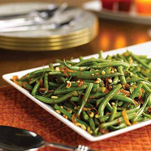 Smoky Green Beans with Pine Nuts | Satisfying Sides | Pinterest