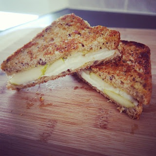 Goat Cheese And Honey Sandwich Recipe — Dishmaps