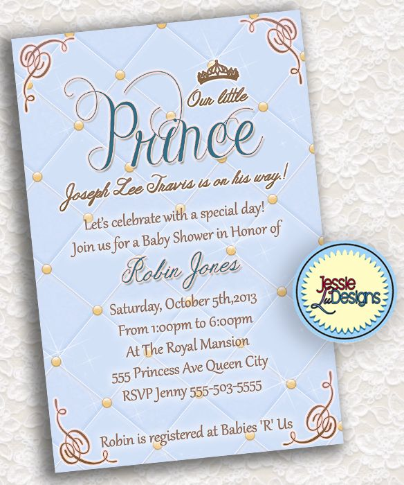 baby shower invitation fit for royalty let your friends and family
