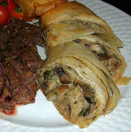 Mushroom Strudel | special occassion recipes | Pinterest
