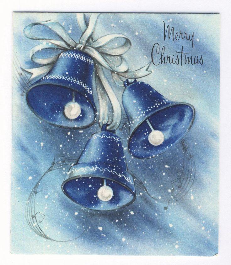 Blue bells vintage christmas cards pinterest