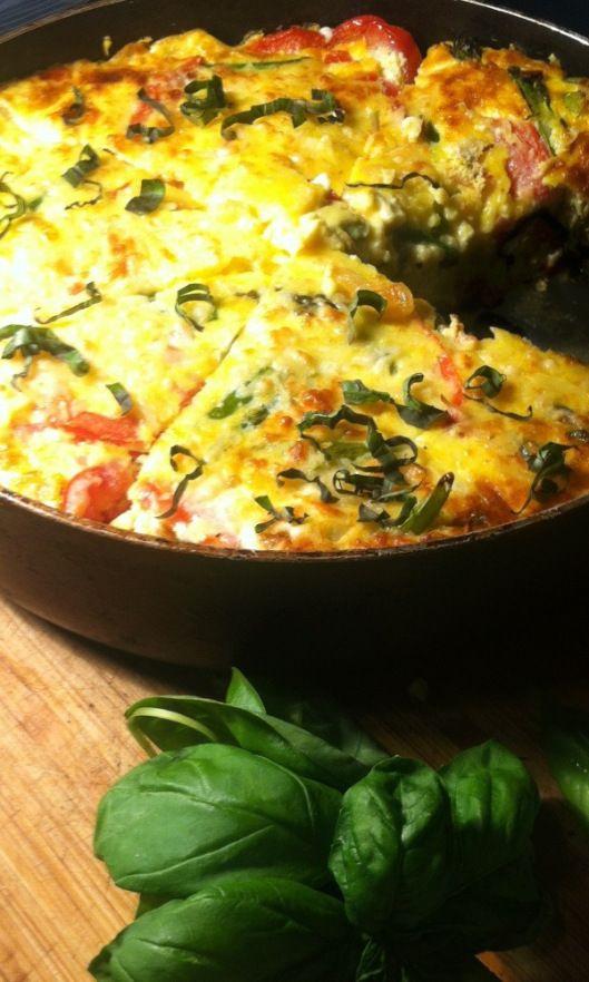 Asparagus Tomato Frittata | Meatless Mondays | Pinterest