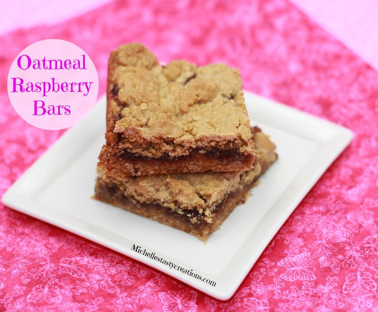 Delicious Raspberry Oatmeal Cookie Bars Recipe — Dishmaps
