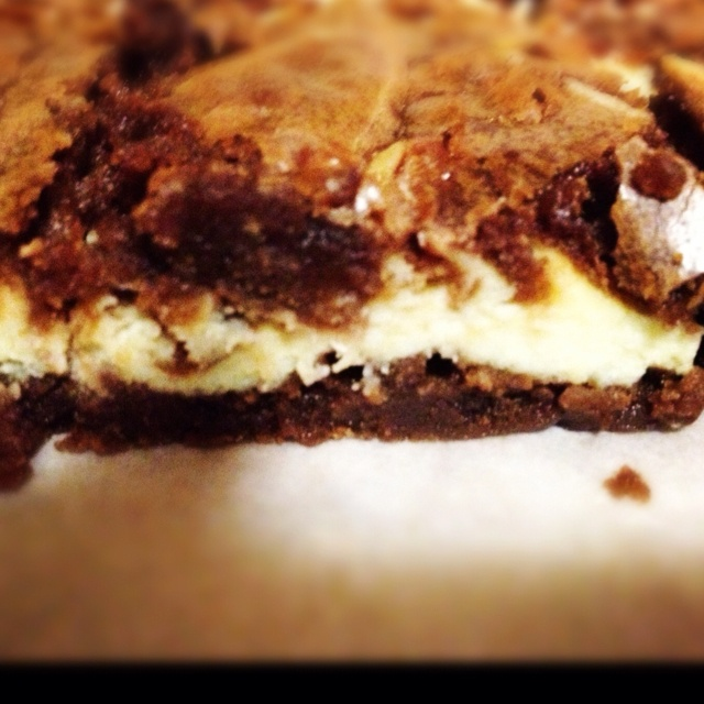 Goat cheese w/ a orange zest Brownie | Brownies | Pinterest