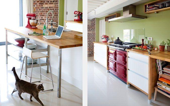 Eikenhouten Keuken Verven Keuken renoveren zandstralen