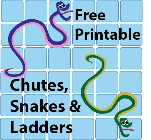 Free Printable Chutes and Snakes and Ladders plus other game templates
