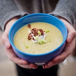 Edamame soup - a twist on pea soup. The perfect way to cheat on winter ...