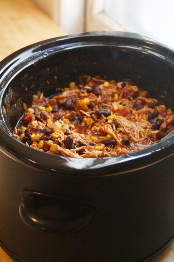 Crock Pot Chicken Taco Chili | Oh So Decadent #Food #Recipe #Yummy # ...