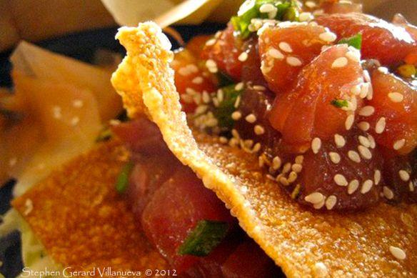 ahi poke nachos 3 | Yummy | Pinterest
