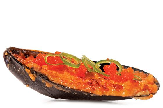 ... broiled mussels rockefeller broiled mussels with hot paprika crumbs