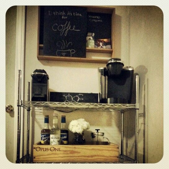 Coffee cart set up at home home sweet home pinterest for Coffee cart for home