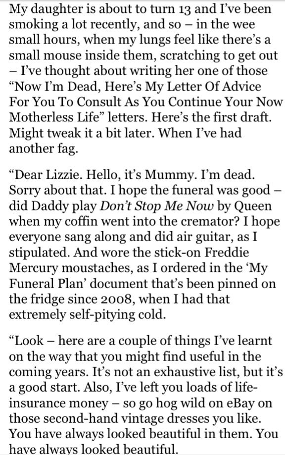 Posthumous letter to my daughter caitlin moran 1 4